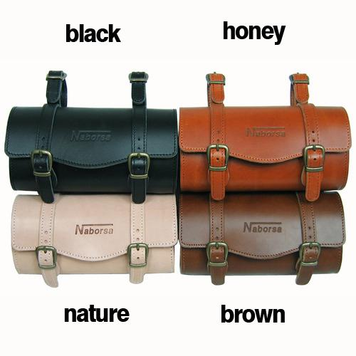 BicycleHero bike Leather bag for seat or handlebar color