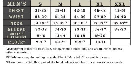 ibex mens size chart