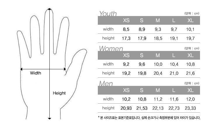 havik size chart