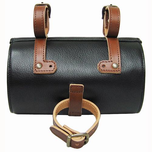 naborsa bicycle leather bike seat bag black