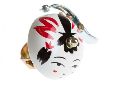 Crane Hand Painted Suzu Bell Onna