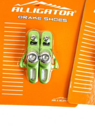 Alligator RD-302 3comp Road bike cartridge brake shoes green