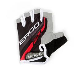 Ergo Flex Half Bicycle Gloves Micro Hexa Pad Red