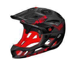 Met New Parachute HES Full Face Helmet Black Red