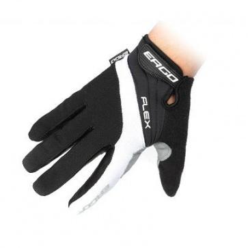 Ergo Flex Long Bicycle Gloves Micro Hexa Pad Black