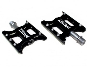 AEST Flat Pedals Cr Spindle YRPD-08CR Black