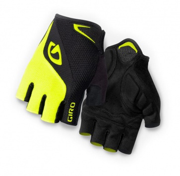Giro Bravo Bicycle Cycling Gloves Half Fingers Black Yellow