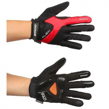 Ergo Mesh Flex Long Bicycle Gloves Micro Hexa Pad Red