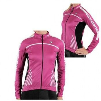 Giordana Womens Silverline Long Sleeve Cycling Jersey Pink