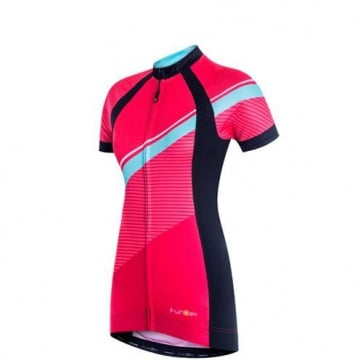 Funkier Luciana Womens Short Sleeve Cycling Jersey Coral