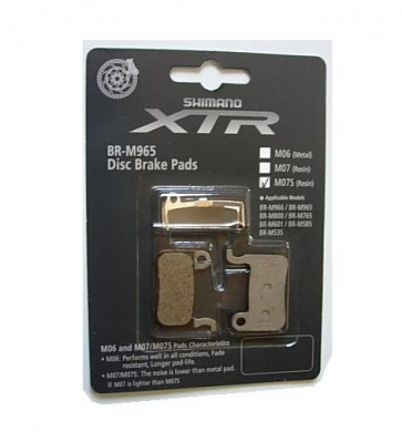 Shimano XTR M07S Disc Brake pads resin