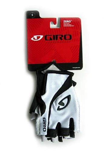 2011 Giro Zero Half Finger Cycling Gloves Bicycle White