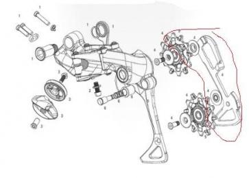 Sram X01 Rear Derailleur 11SP X-Sync Pulley Inner Cage