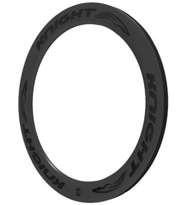 Knight Composites 65 Rim Clincher Front 700c Black