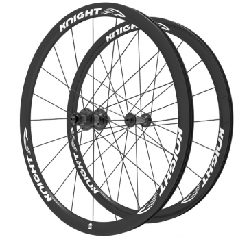 Knight Composites 35W-Dt Swiss 240s Carbon Clincher Wheelset- 700c White