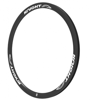 Knight 35 Carbon Rim Clincher Front 700C White