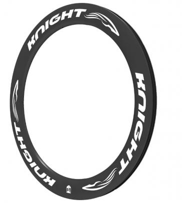 Knight 65 Carbon Rim Clincher Front 700C White