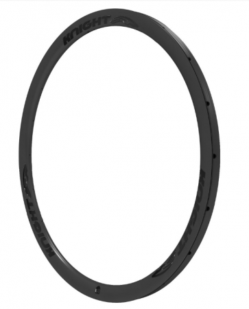 Knight 35 Carbon Rim Tubular Front 700C Black