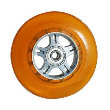 Curb Dog Scooter Wheel Orange W-Bearings