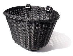 Colorbasket Cord Strap-on Front Handlebar Bike Basket Black