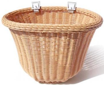 Colorbasket Cord Strap-on Tan Front Handlebar Bike Basket Natural Color