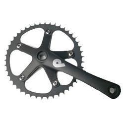 Pake Track Bicycle Crank Set 1-8inch 165mm Black