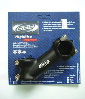 BBB HIGH RISE BIKE STEM BHS-24 35DG 25.4 x 90mm