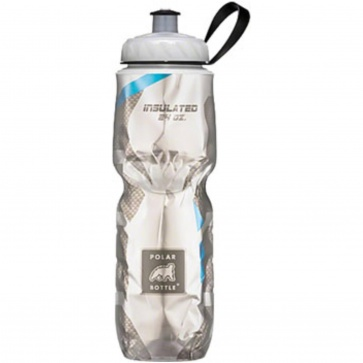 Polar 24oz Water Bottle Carbon Blue