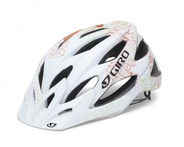 Giro XAR Cycling helmet Mountain Bike  Matte White/Orange Blockade
