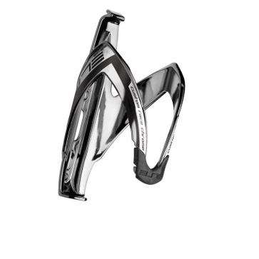 Elite Custom Race Bottle Cage Chrome Logo Black