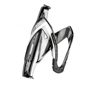 Elite Custom Race Bottle Cage Chrome Logo White