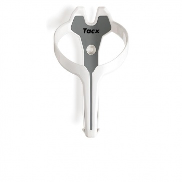 Tacx Foxy Bottle Cage T6301.03,B - White- Silver Grey