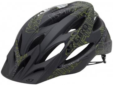 Giro XAR Cycling helmet Mountain Bike Black  Matte Black/Highlight Yellow Blockade