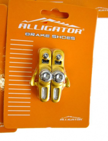 Alligator RD-302 3comp Road bike cartridge brake shoes yellow