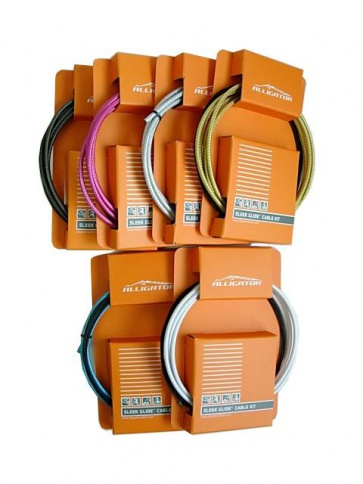 Alligator Sleek Glide Brake Cable Kit Teflon Coated 6colors