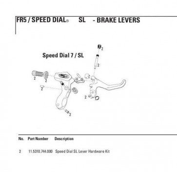 Avid Lever Hardware Kit Speed Dial SL