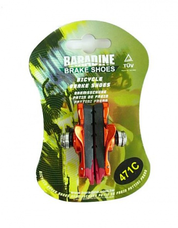 Baradine 471C road bike cartridge V brake shoes 4colors