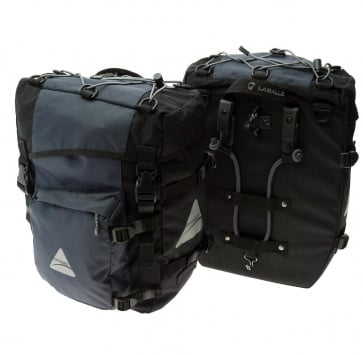 AXIOM LASALLE DLX PANNIER SET BLACK/GREY