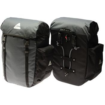 Axiom Seymour DLX 45 Pannier Bag Grey Black