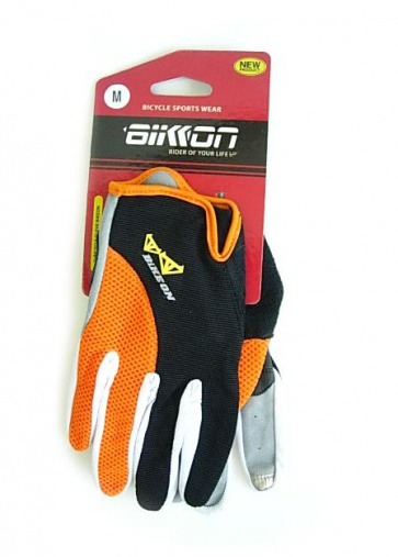 Bike-on GB-S8 cycling iphone gloves i-touch orange