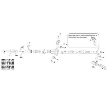 Avid Hose Kit-code/elixir 3/juicy 3 200cm Wht
