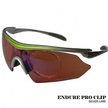 Briko Endure Pro Clip Cycling Goggles Sunglasses Dual Lime