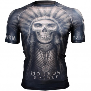 Btoperform Mohawk Spirit - Black Full Graphic Compression Short Sleeves Shirts FX-302K