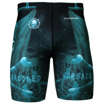 Btoperform Marooned Corsaire Full Graphic Compression Shorts FY-312