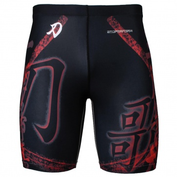Btoperform Song of Sword - Black Full Graphic Compression Shorts FY-316K