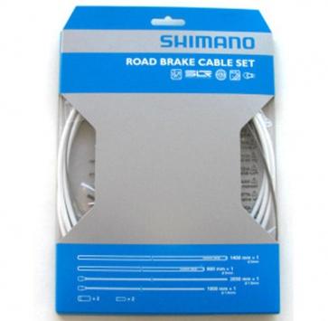 SHIMANO PTFE ROAD BRAKE CABLE & HOUSING SET WHITE