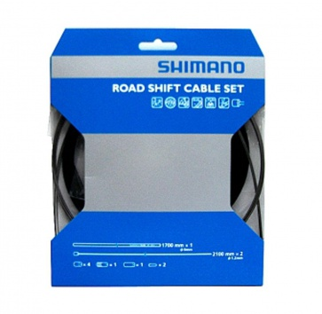 SHIMANO PTFE ROAD SHIFT CABLE & HOUSING SET BLACK