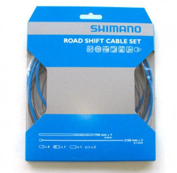 SHIMANO PTFE ROAD SHIFT CABLE & HOUSING SET BLUE