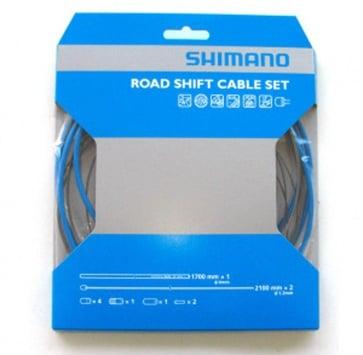 SHIMANO PTFE ROAD SHIFT CABLE & HOUSING SET BLUE
