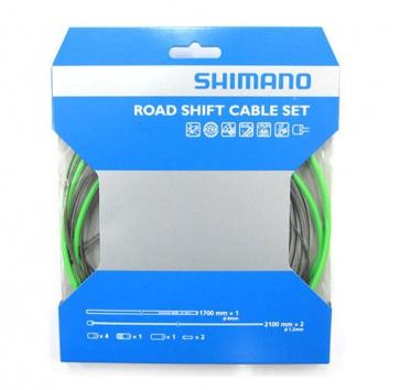 SHIMANO PTFE ROAD SHIFT CABLE & HOUSING SET GREEN